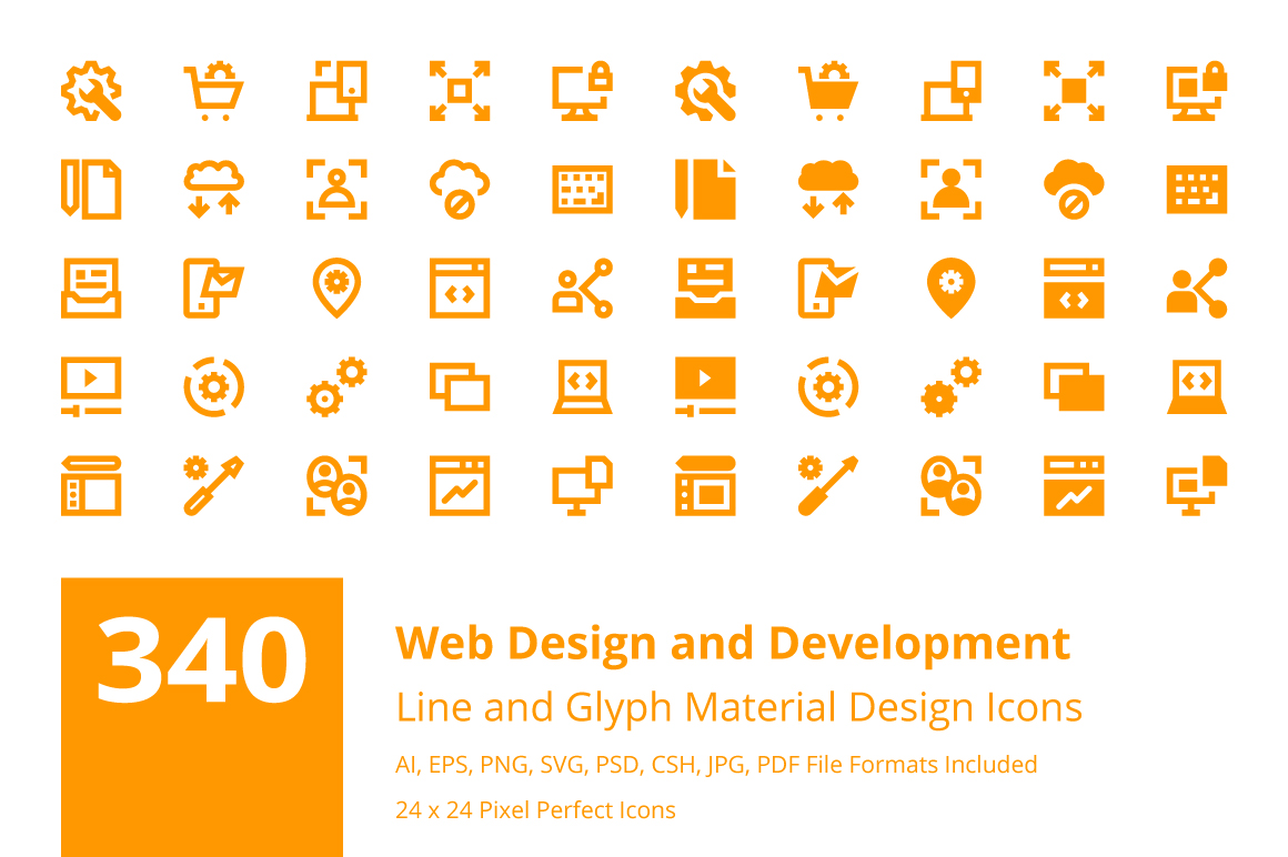 340 Web Design And Development Icons Creative Stall